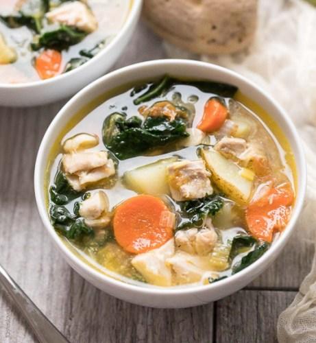 leek and potato chicken soup recipe