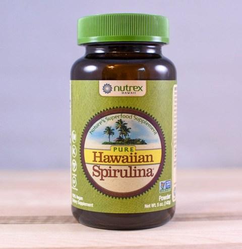 bottle of nutrex spirulina powder