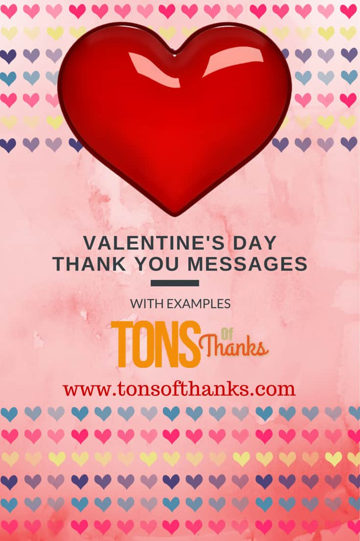 Valentines Day Thank You Messages Examples
