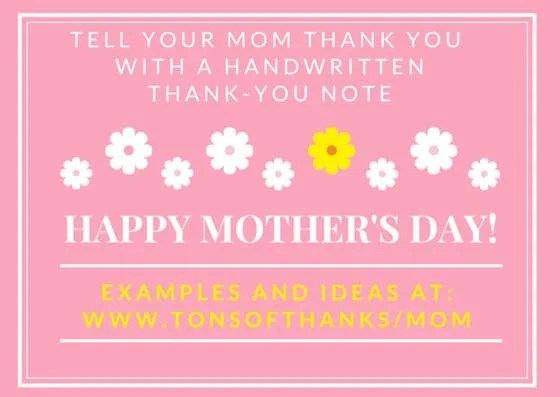 write a mother u0026 39 s day thank you note to your mom