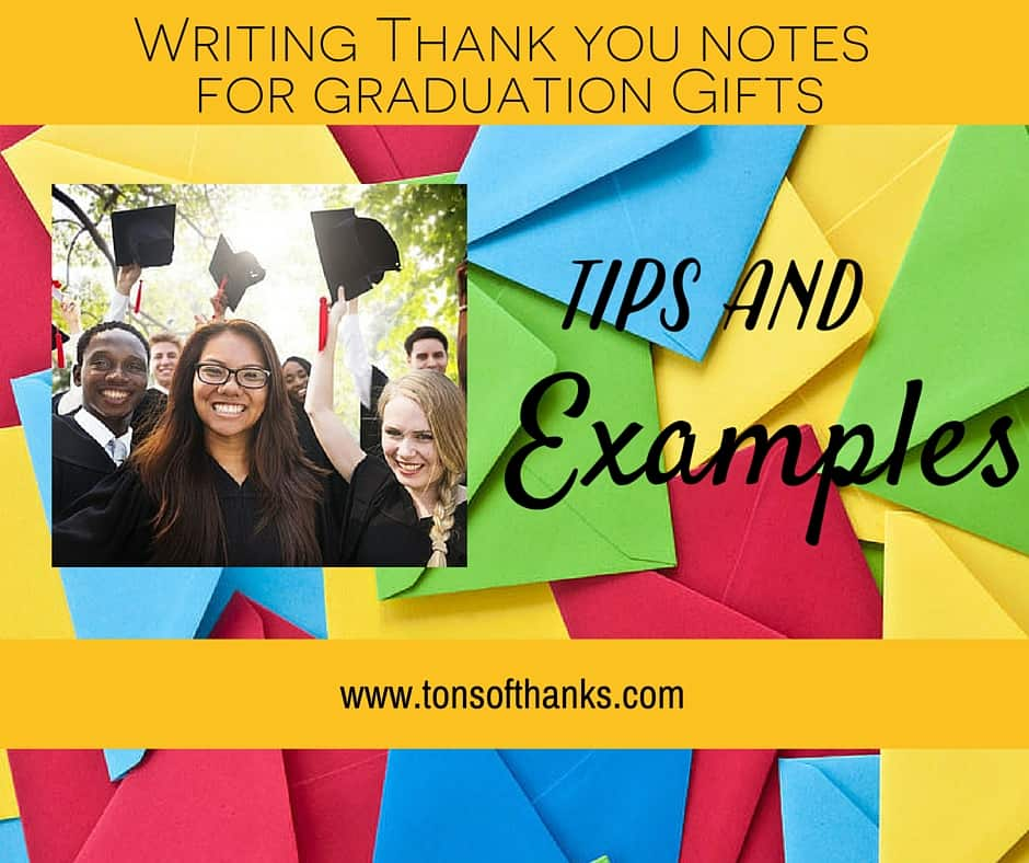 thank you note examples for graduation gifts with tips and