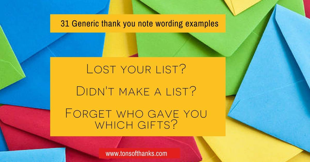 31 generic thank you note wording examples