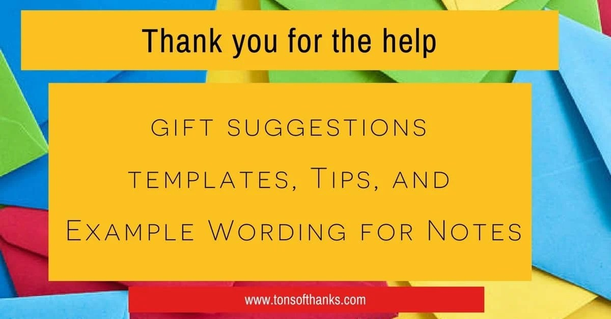 Thank you for the help thank you note wording and sayings thank you for the help note wording examples and tips and template m4hsunfo