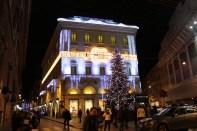 Una de las calles más caras de Roma, via Condotti.