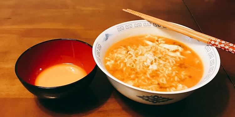 辛ラーメン(つけ卵)