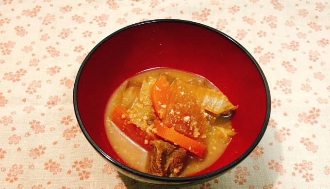 ミスジステーキ(味噌煮込み)