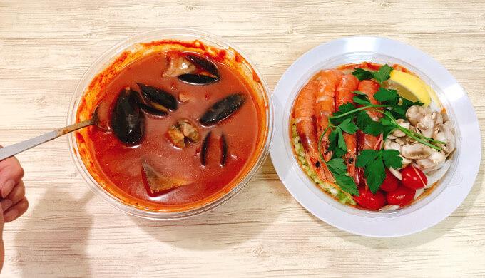 チョッピーノスープ(スープに貝がゴロゴロ)