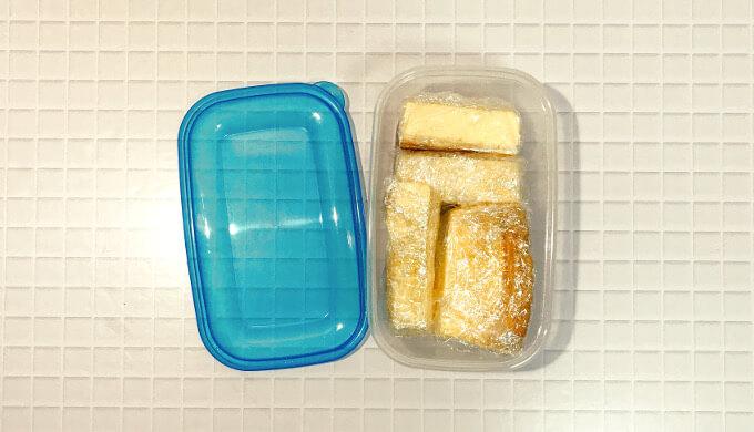 トリプルチーズタルト(四角で保存)