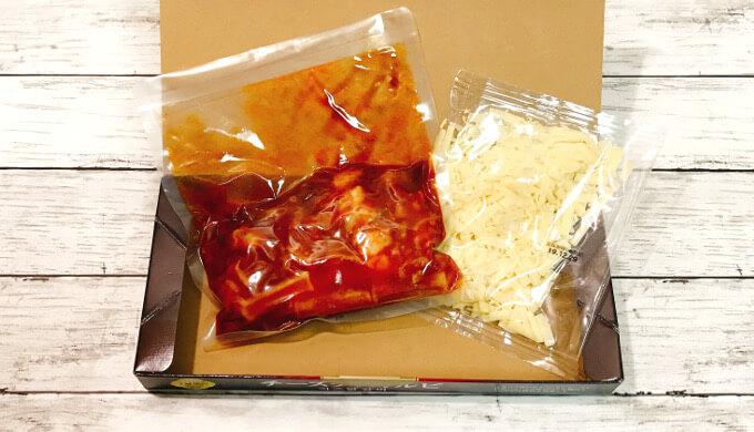 チーズタッカルビ(箱の中身)