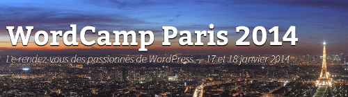 Bannière du WordCamp Paris 2014
