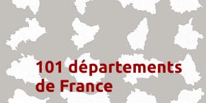 Cartes jVectorMap des Départements de France
