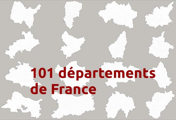 Cartes des département français
