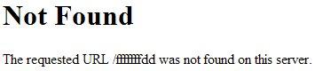 Capture d'écran d'une erreur 404 non personnalisée