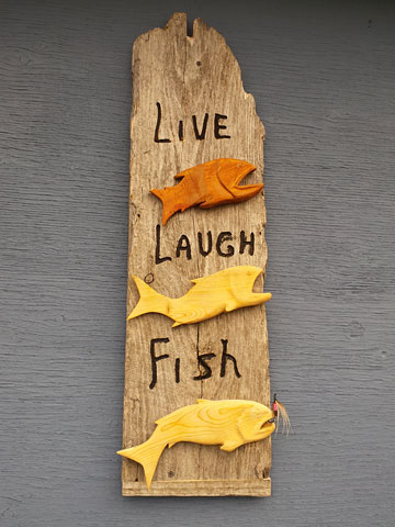 LIVE LAUGH FISH