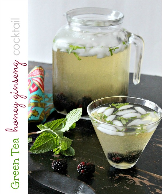 Green Tea Honey Ginseng Cocktail Tonya Staab