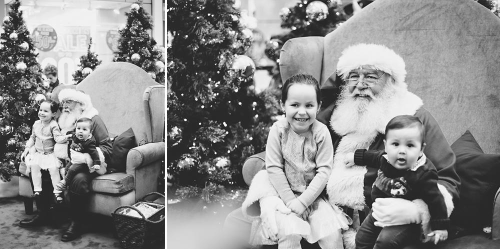 baby and big sister visit Santa   Tonya Teran Photography, Rockvile, MD Baby Photographer