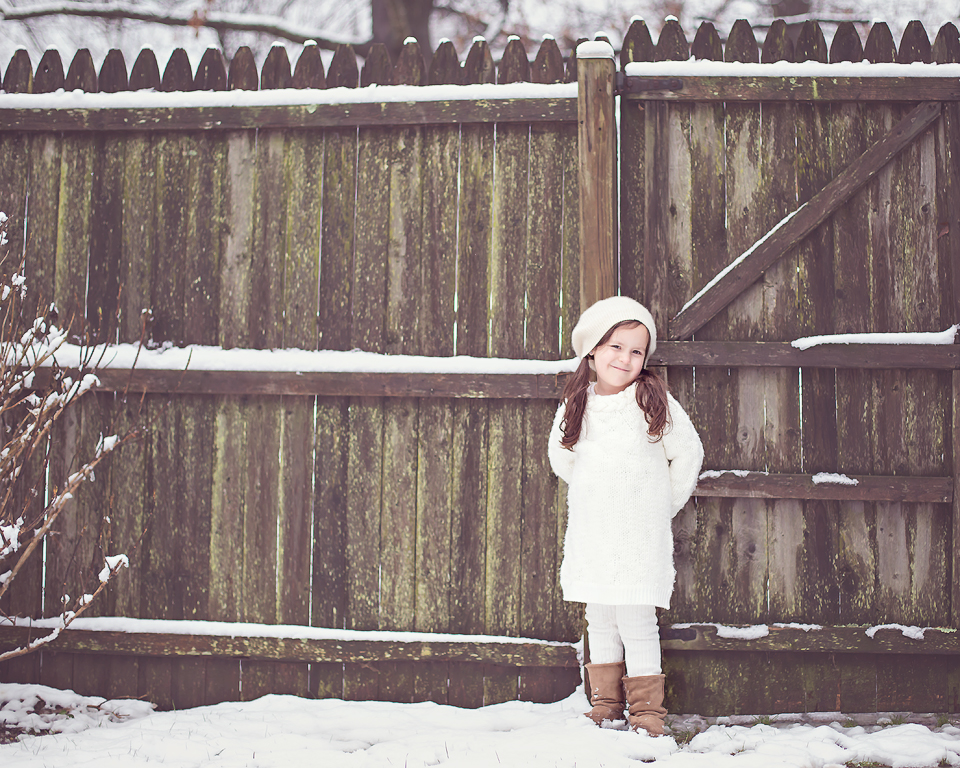 baby in the snow   Tonya Teran Photography, Rockvile, MD Baby Photographer