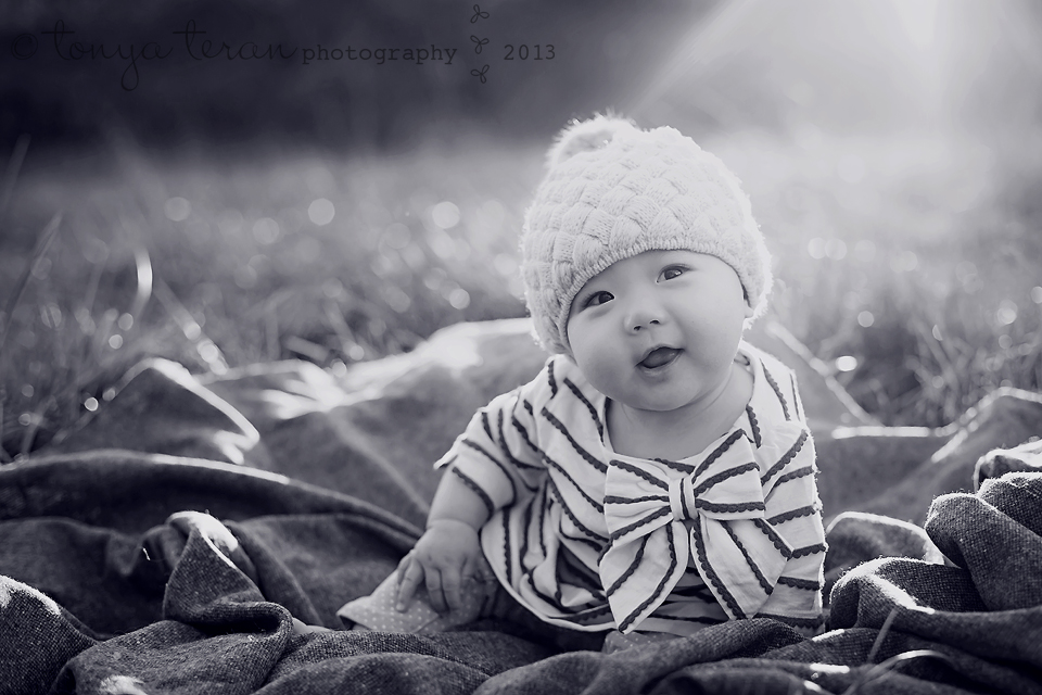 Baby in sunflare | Tonya Teran Photography, Rockville, MD