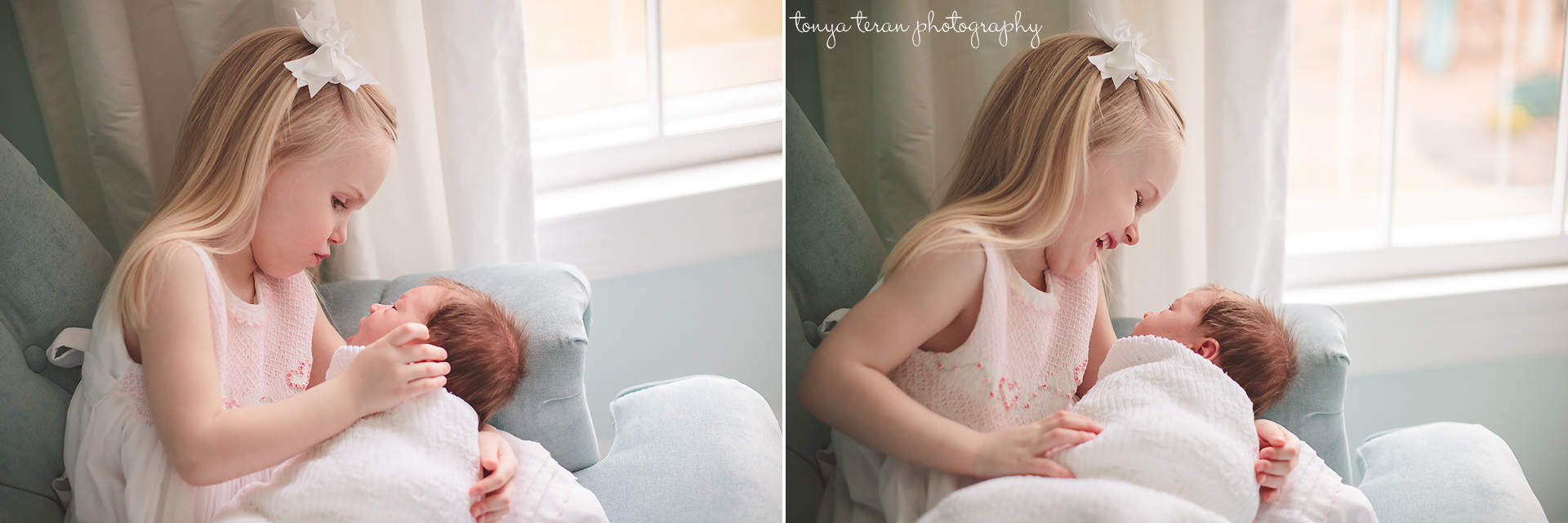 newborn with sibling pose | Rockville, MD Newborn Baby and Family Photographer - Tonya Teran Photography