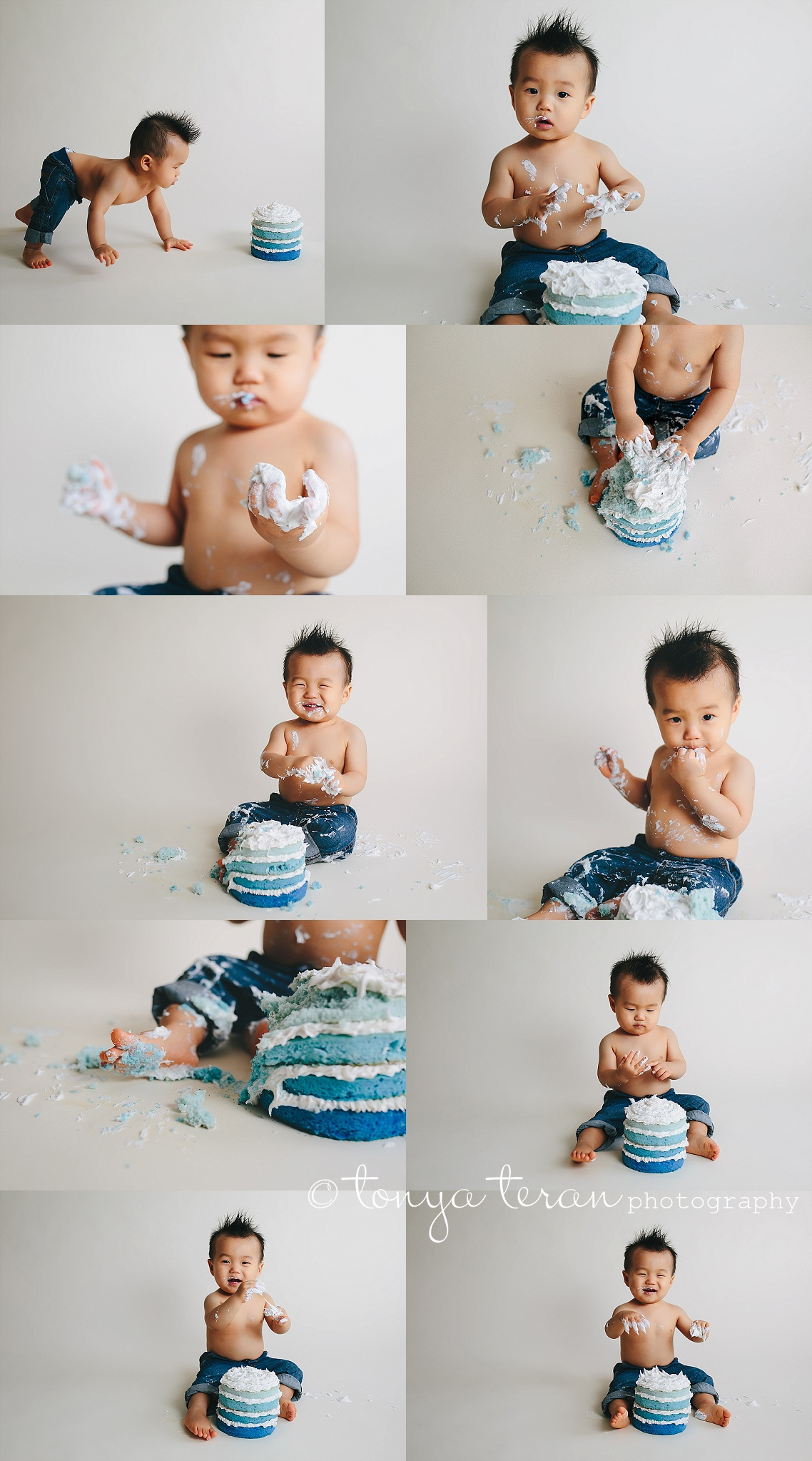 1st Birthday Cake Smash Photo Session | Tonya Teran Photography, Rockville, MD Newborn, Baby, and Family Photographer