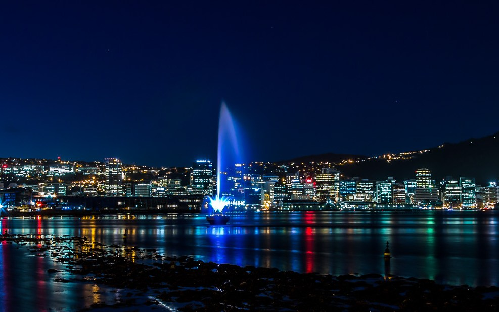 Wellington city at night