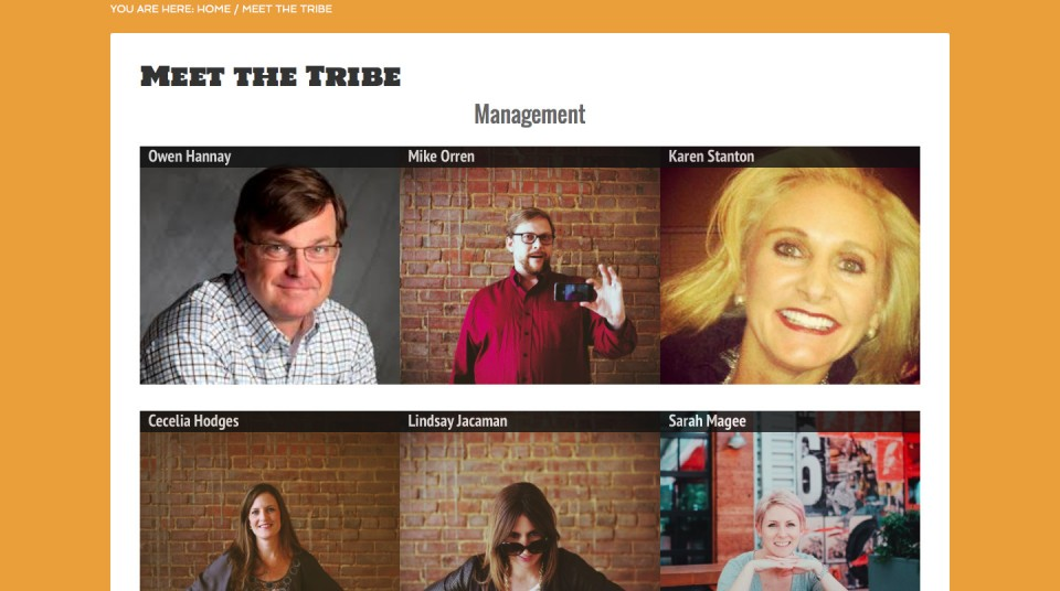 Agency web site - meet the staff page