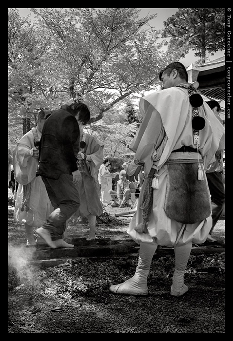 Koyasan - Walking over hot coals - Private Local Ceremony at the Tokugawa Family Mausoleum
