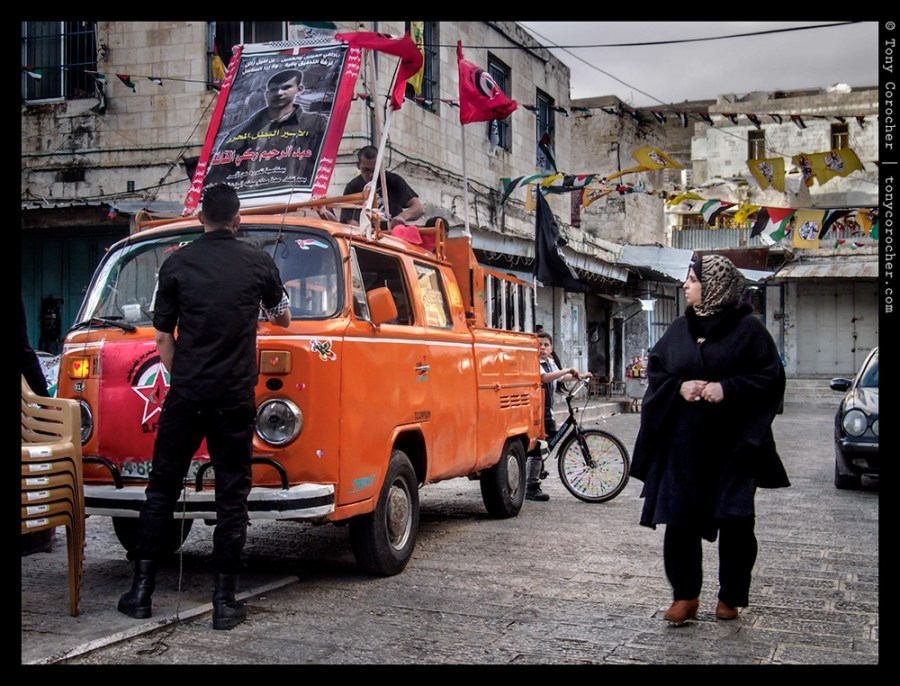 West Bank - getting ready to celebrate prisoner release - 2013 © Tony Corocher | All Rights Reserved