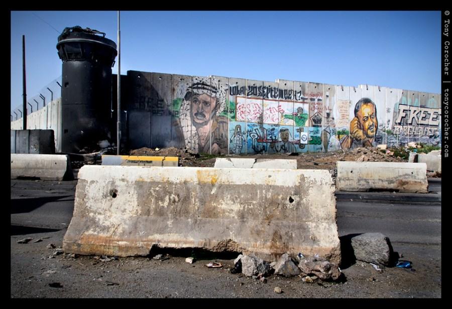Division walls at Kalandia checkpoint between Jerusalem and Ramallah - 2013 © Tony Corocher | All Rights Reserved