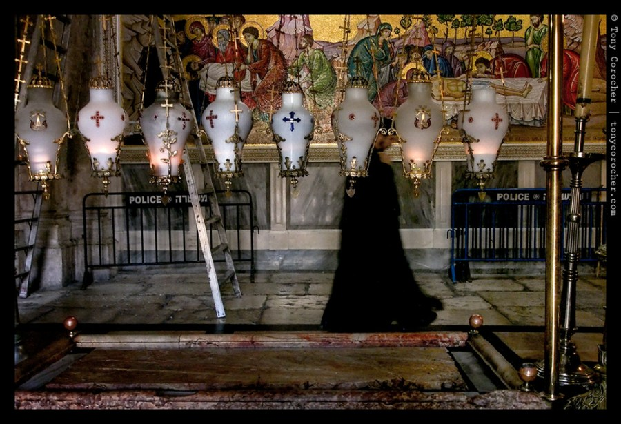 Jerusalem - Priest walking by the Holy Sepulchre - 2013 © Tony Corocher | All Rights Reserved