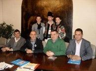Conferință de presă la Primăria Villafranca (VR), Cătălin Mustățea, Vasile Moroșan, Mario Faccioli și Riccardo Maraia