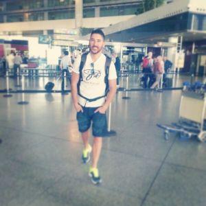 En el aeropuerto de Malaga a punto de empezar mi viaje