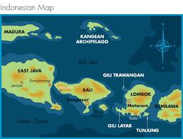 Mapa Bali/Lombok