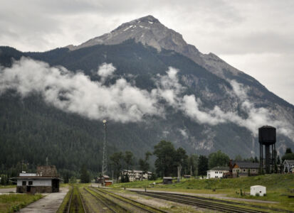 from the Rocky Mountaineer Train
