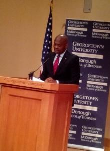 1.At Georgetown University Listening to Mr. Elumelu
