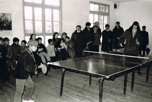 Table Tennis fun in the classroom, Beijing 1974