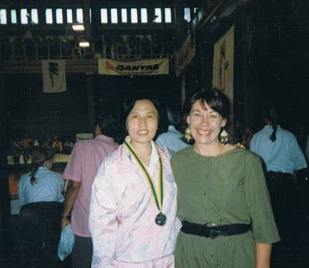 Wang Shuyun and Yvonne, Melbourne 1994