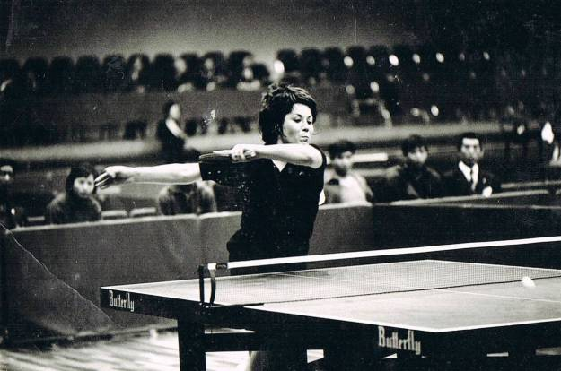 Yvonne Fogarty in action at Asian Champs 1974