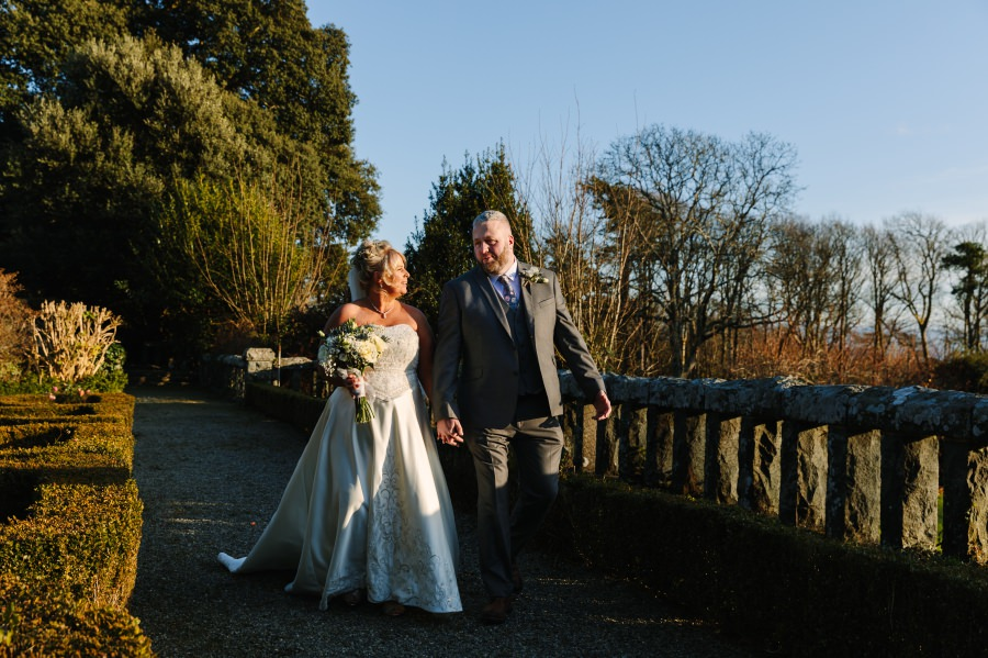 Winter wedding at Bron Eifion