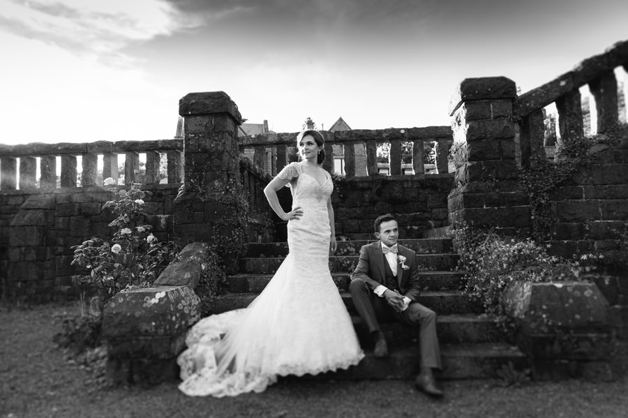 bride and groom at Bron Eifion. Get married in North Wales