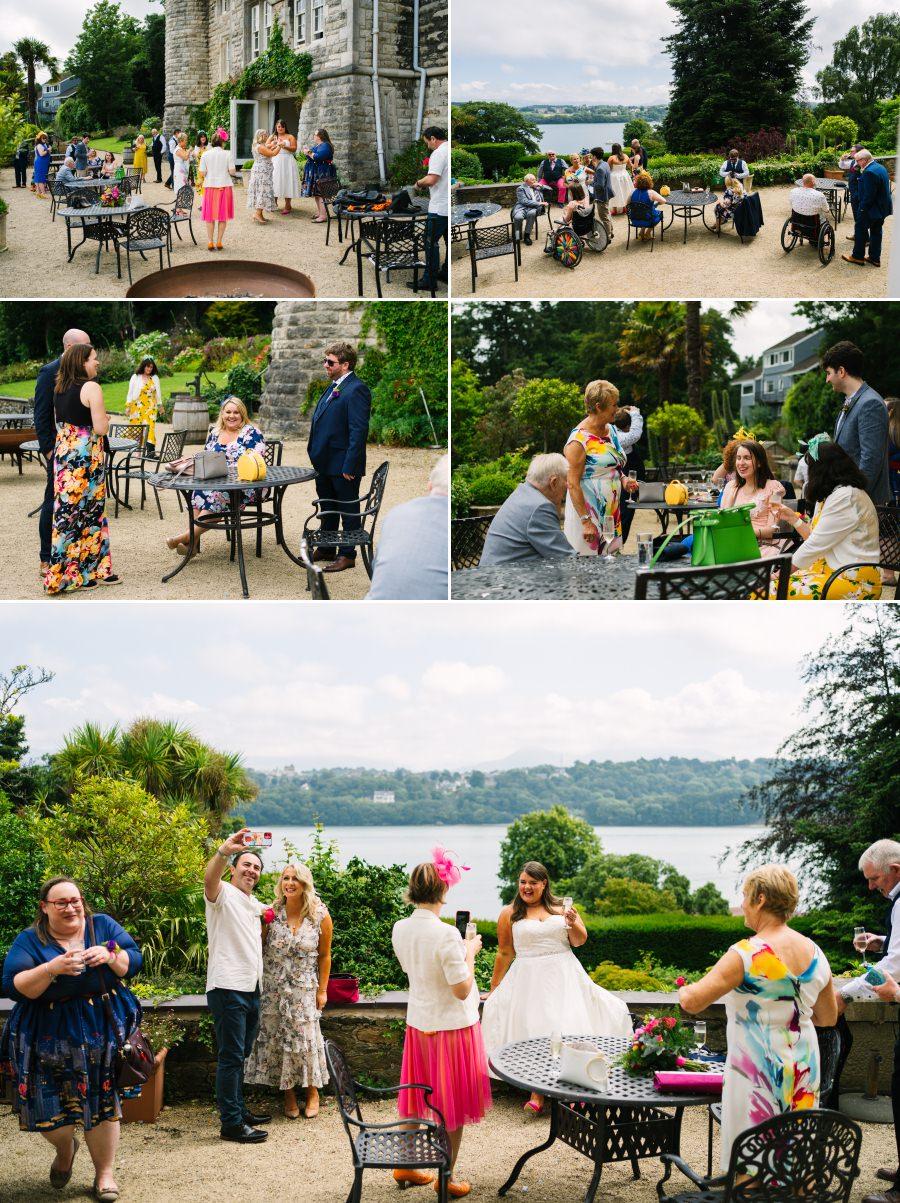 Fun wedding at Chateau Rhianfa