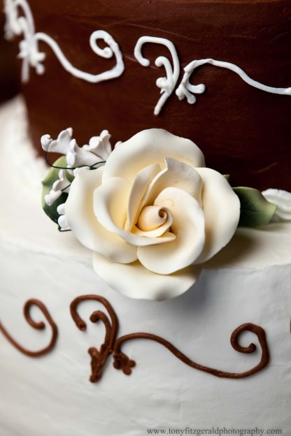 A wedding cake from Pure Bliss Bakery in Santa Cruz