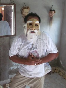 Nyoman in one of his creations.