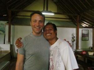 Nyoman Setiawan and I at the last group class in Pondok Pekak.
