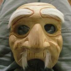 Wooden bondres mask