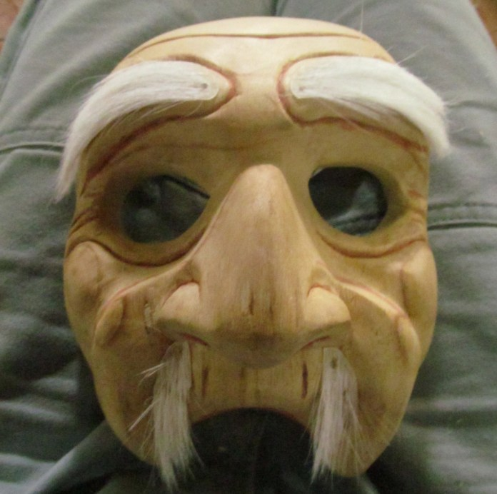 Wooden bondres mask