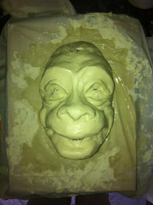 Draft version of our monkey! I will make a mold and cast 9 of them.