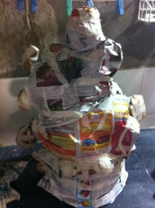 I covered it in newspaper to establish the planes of the surface