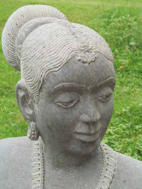 Sculpture of a woman from a folk community in Karnataka.
