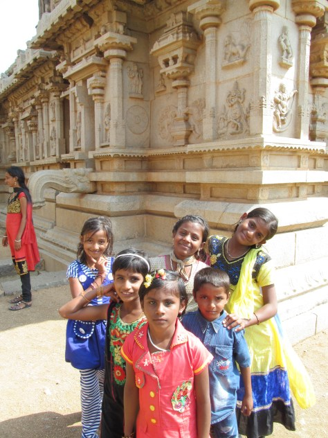 Random kids who instantly wanted to be in my picture while I photographed ruins in Hampi.